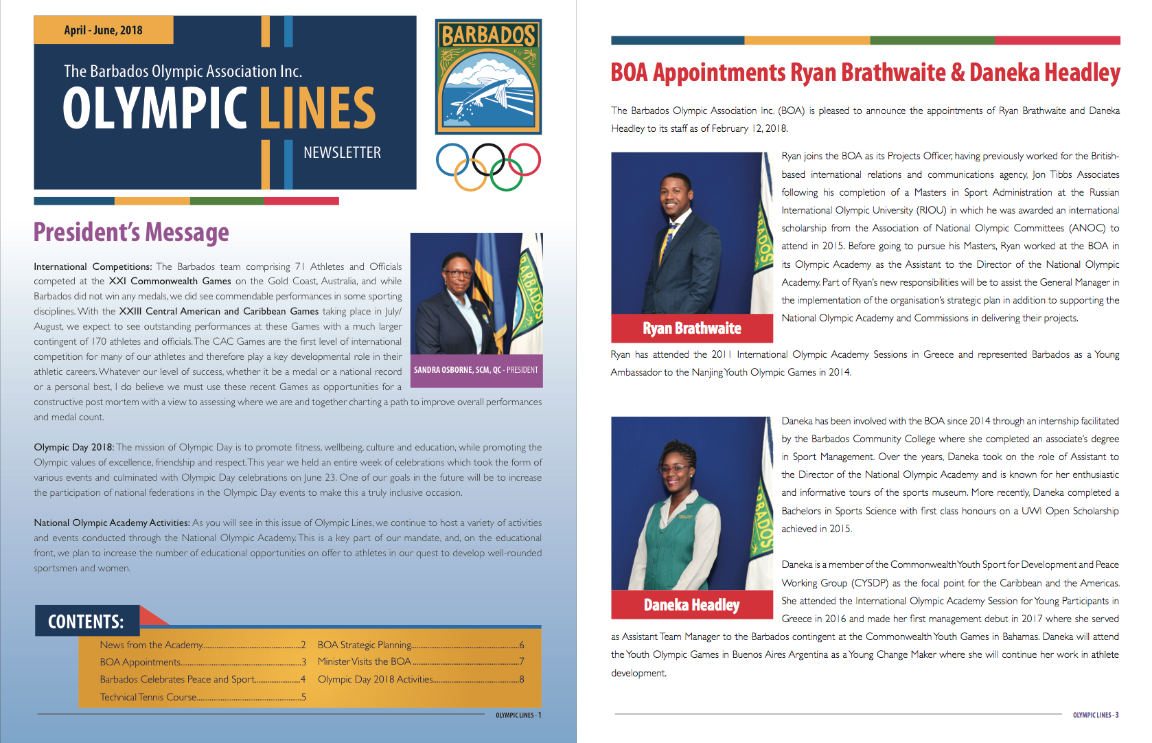 Olympic Lines: April-June, 2017 - Preview