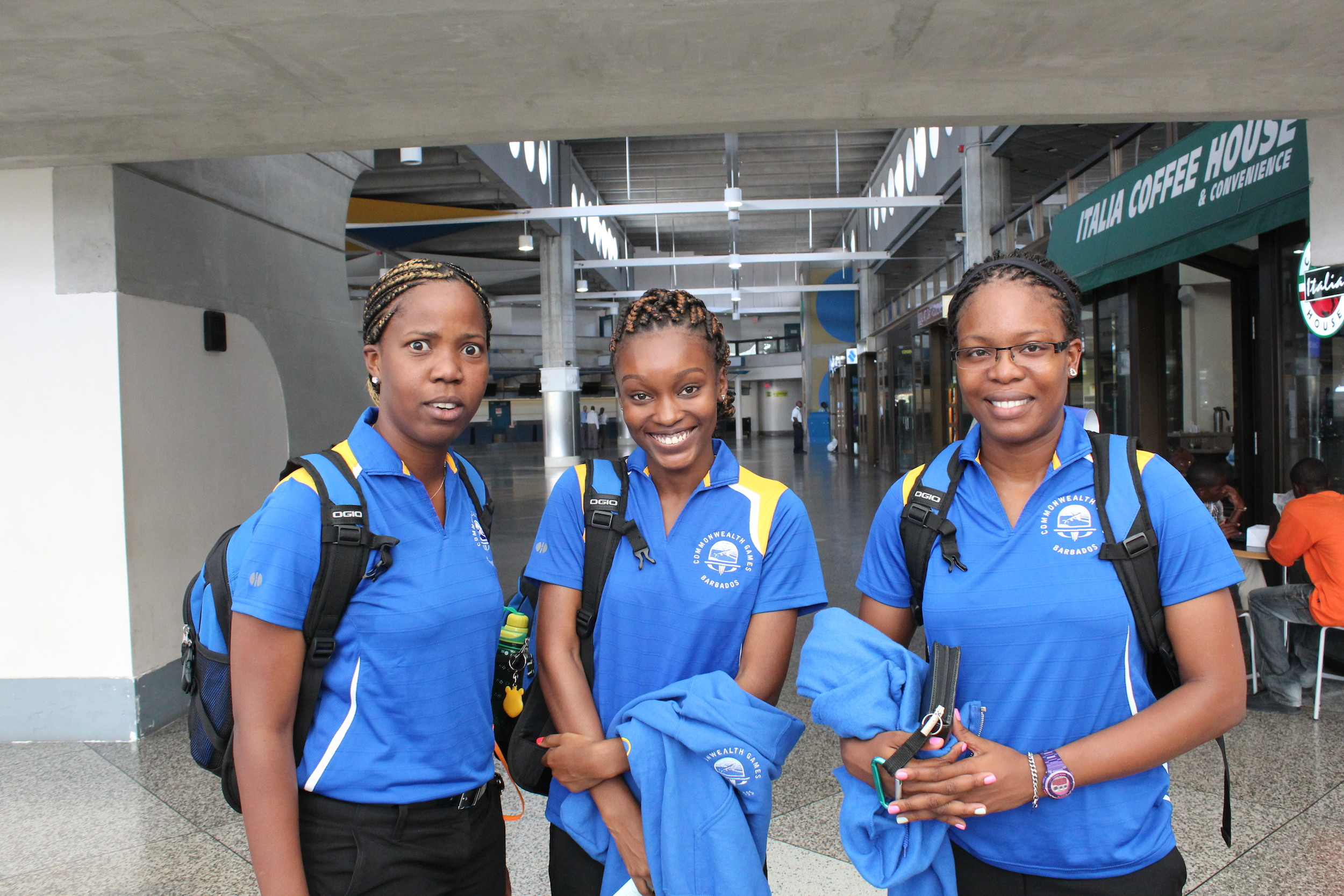 Barbados Table Tennis Team 2014 Ladies